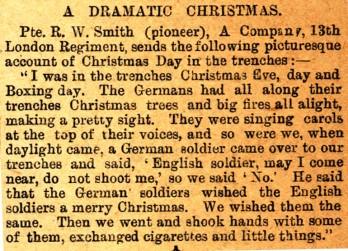 'A Dramatic Christmas' 1914 | The Kensington News