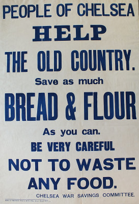 Poster - Help the Old Country not to Waste any Food | Local Studies, RBKC