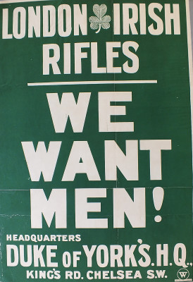 London Irish Rifles Recruitment Poster | Local Studies, RBKC