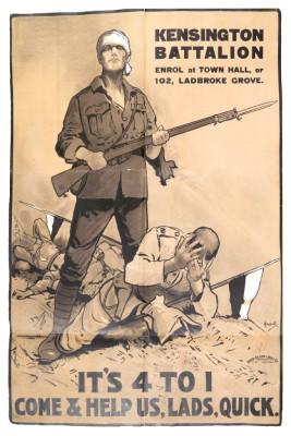 Kensington Battalion Recruitment Poster | Local Studies, RBKC