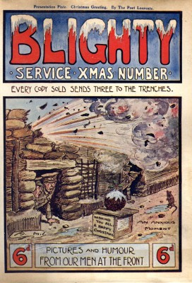 Cover of 'Blighty Magazine' which would have been sent out to the troops at Christmas