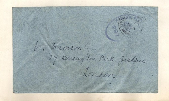 Envelope from a Letter written by Randle Barnett-Barker to William Davison