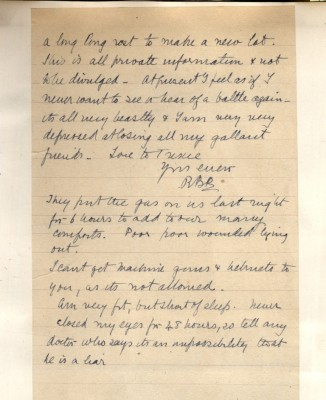 Letter from Barker to Brougshane. 'Haven't closed my eyes in 48 hours...' | RKBC Local Studies