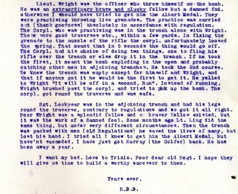 Letter from Barnett-Barker to Broughshane. | RBKC Local Studies