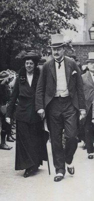 William Davison, Lord Broughshane pictured with his wife. | Local Studies, RBKC