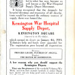 Kensington War Hospital Supply Depot