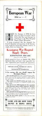 Kensington War Hospital Supply Depot | RBKC Local Studies