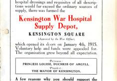 Kensington War Hospital Supply Depot
