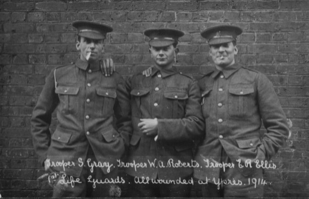 Life Guards Wounded at Ypres | Household Cavalry Archive