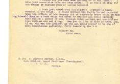 Davison to Barnett-Barker 25th April 1917
