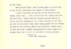 Davison to Stone 8th April 1918