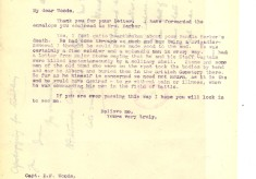 Davison to Woods 5th April 1918
