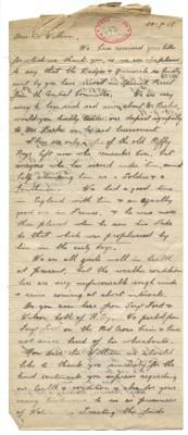 Brown, Maloney, Squibb to Davison 30th July 1918 | RBKC Local Studies