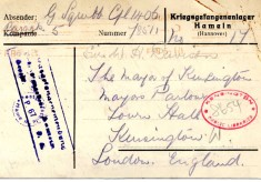 Davison to Squibb 3rd May 1918