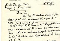 Impey to Davison 13th August 1917