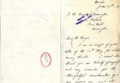 Brown to Davison 29th June 1917