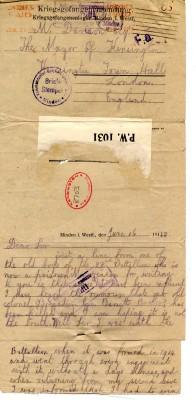 Fahey to Davison 16th June 1918 | RBKC Local Studies