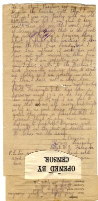 Fahey to Davison 16th June 1918 - page two | RBKC Local Studies