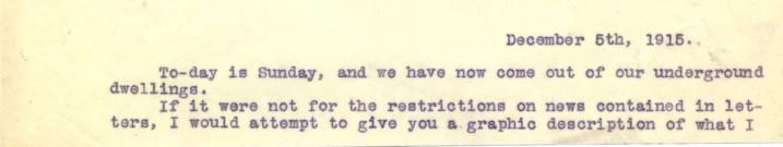 Destrube to Marion 5th December 1915 | RBKC Local Studies