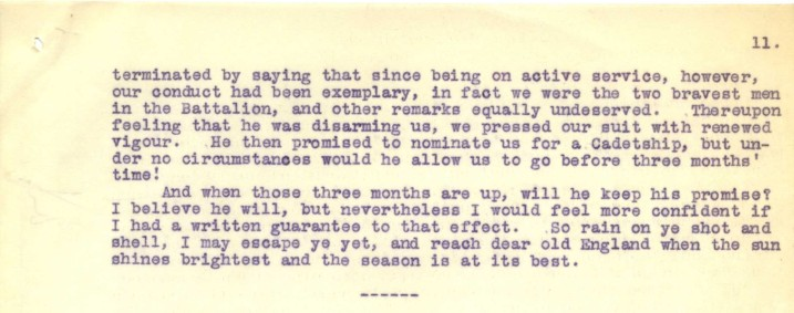 Destrube to Marion 30th January 1917 - part two   RBCK Local Studies