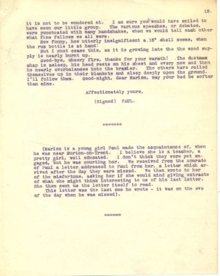 Destrube to Marion 16th February 1917 - part two   RBKC Local Studies