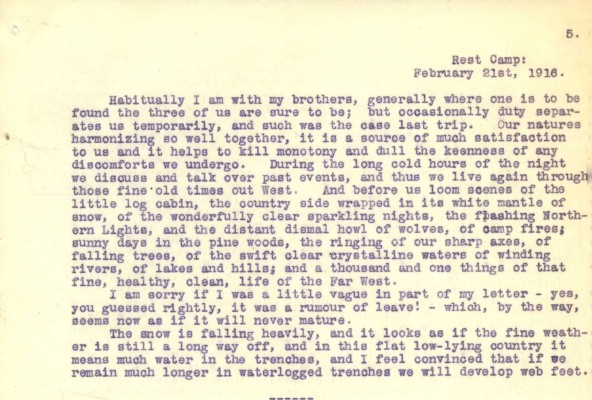 Destrube to Marion 21st February 1916 | RBKC Local Studies
