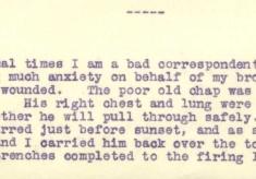 Destrube to Marion 30th April 1916