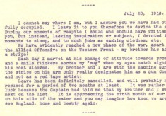 Destrube to Marion 20th July 1916