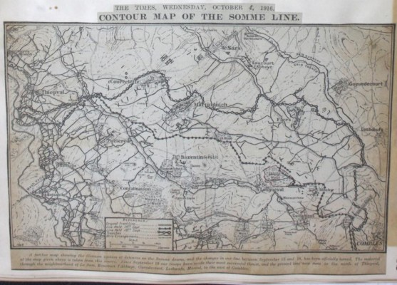 Map of The Somme | RBKC